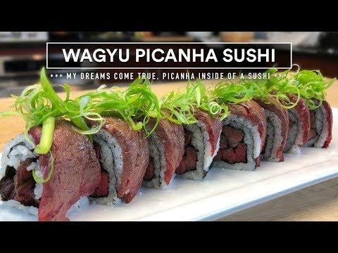 Sous Vide WAGYU PICANHA Sushi - Collab with Chef Hiroyuki Terada