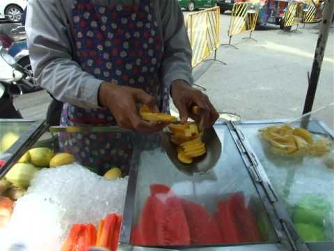 Thai Vendor Selling Fruits