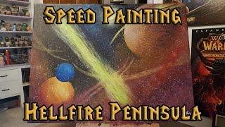 Hellfire Peninsula Sky | Speed Painting | Live Stream Highlight