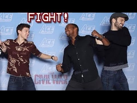 Sebastian Stan & Anthony Mackie Dragging Tom Holland for 10 minutes Straight !