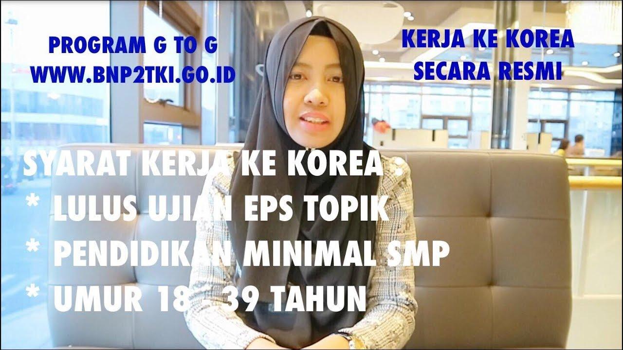 Syarat Proses Kerja Ke Korea Selatan Secara Resmi Youtube