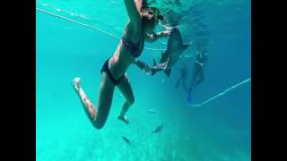 Drone in the Exumas Bahamas Vacation