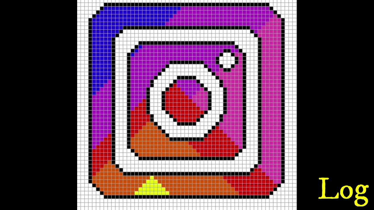 Pixel Art Logo Instagram