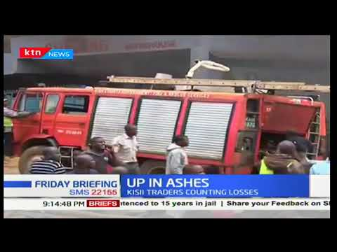 Property worth millions goes up in flame as a fire burns down jua kali sector in Kisii County