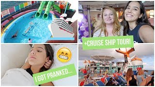 I Slept On A Boat For The First Time! | Bahama Paradise Cruise Vlog Pt.1