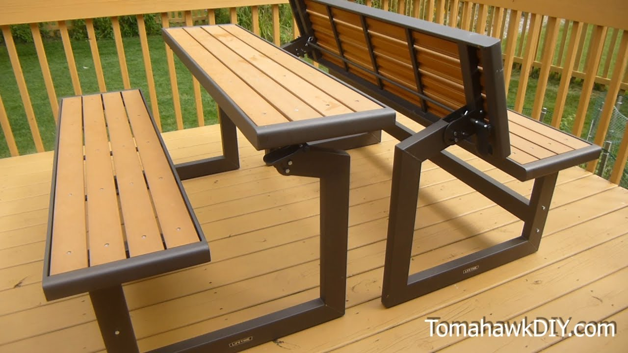 Awesome Convertable Picnic Table Bench Review Youtube