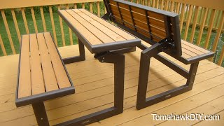 Awesome Convertable Picnic Table / Bench Review