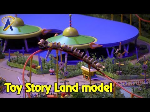 Toy Story Land model on display inside Walt Disney Presents at Disney's Hollywood Studios
