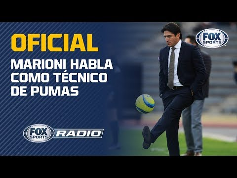 Pumas presenta a Bruno Marioni como nuevo director técnico