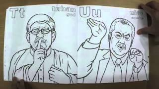 ABC Politikus Malaysia colouring book