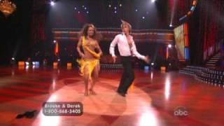 Brooke Burke & Derek Hough dancing the Samba