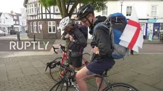 UK: Cyclists set off on 2,400-mile charity trek to World Cup