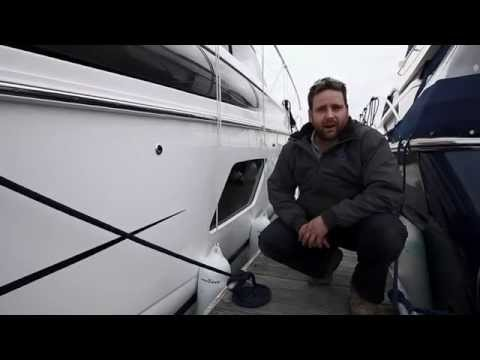 How to secure a boat in a berth using a spring line.