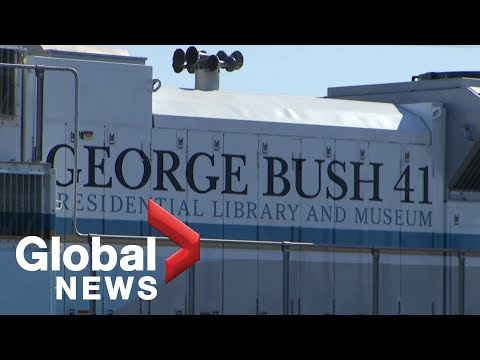 Special train ready to transport President George H.W. Bushs casket