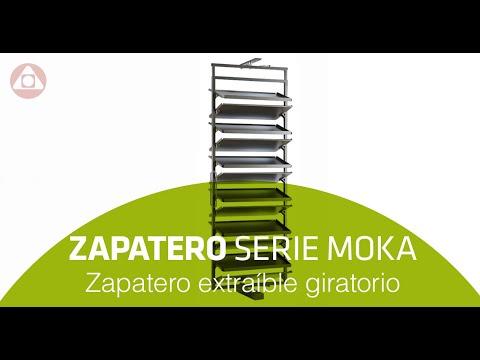 Zapatero extraíble giratorio para armarios y vestidores.