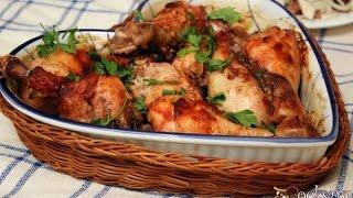 Запеченные куриные голени в томатном маринаде