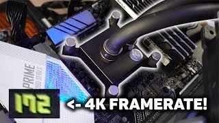 4K Gaming on the World's Fastest PC (with FPS counter!)