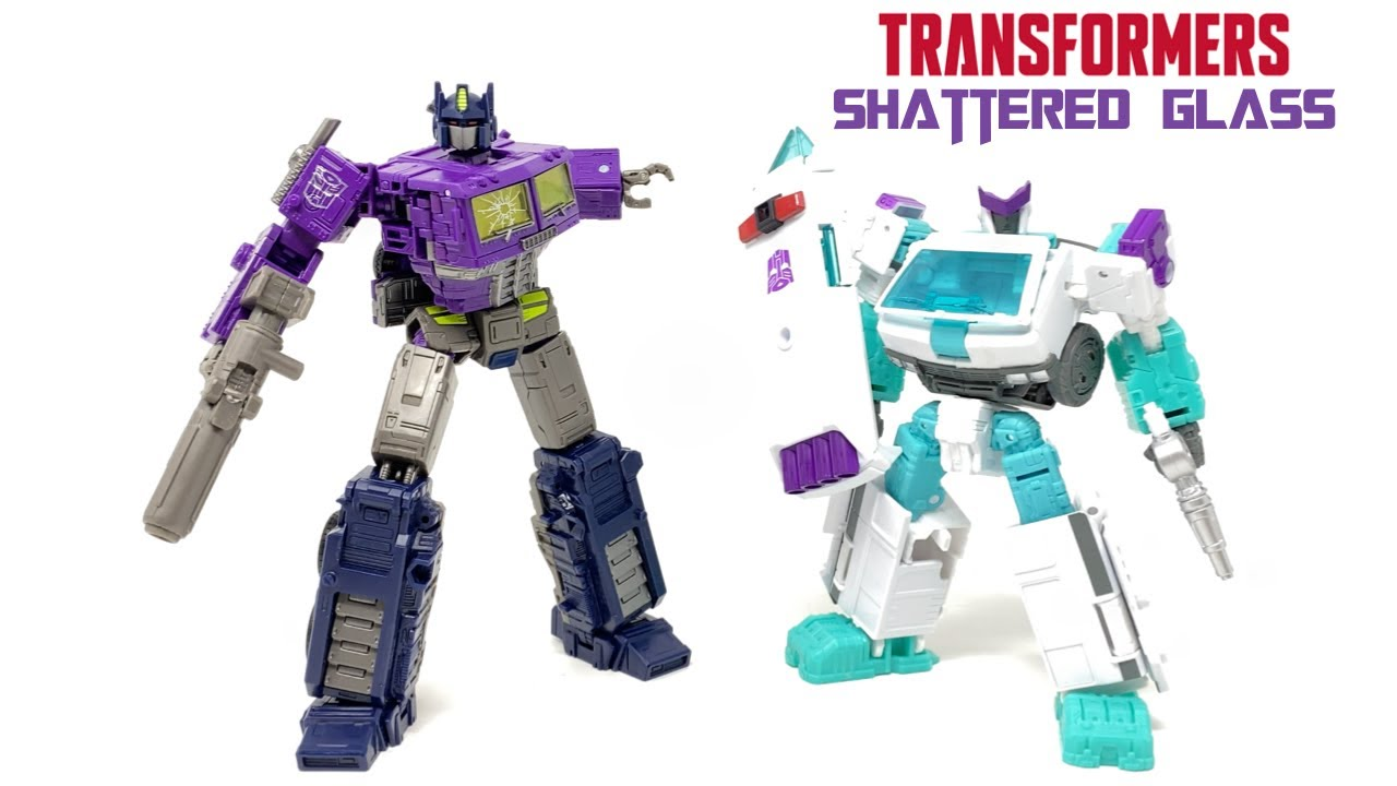 Transformers Shattered Glass Optimus Prime and Ratchet In-Hand Review by PrimeVsPrime