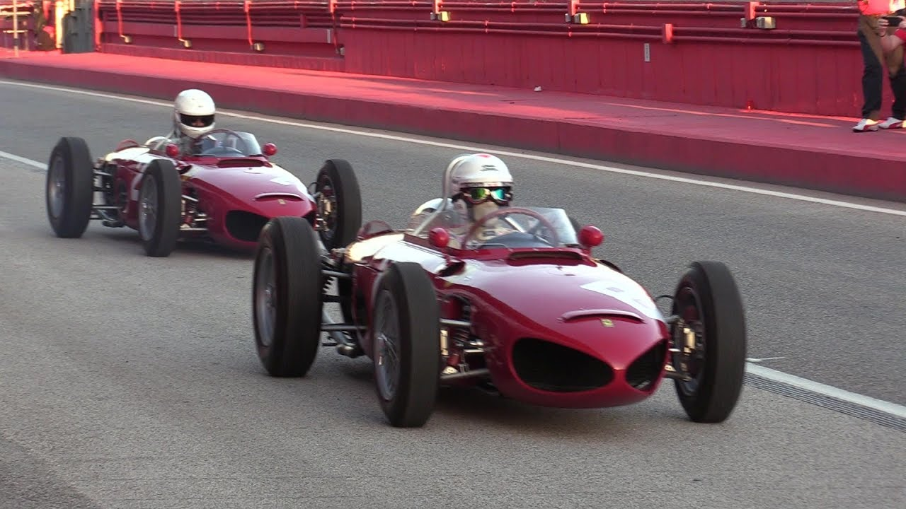 Exclusive 2x Ferrari 156 F1 Sharknose Racetrack Action Sound Imola Youtube