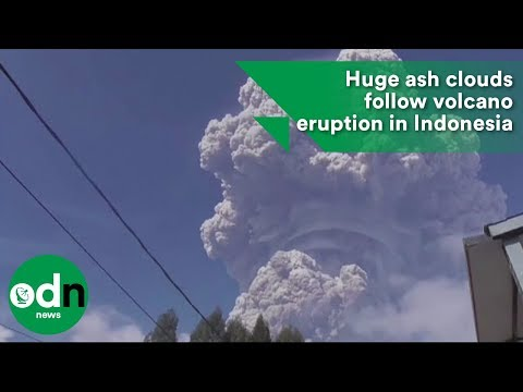Huge ash clouds follow volcano eruption in Indonesia