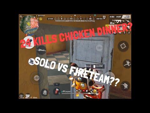 24 KILLS PLUS CHICKEN DINNER SOLO VS FIRETEAM???   Rules Of Survival Highlights