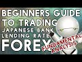 Forex Fundamental Analysis for Novices - Japanese Bank Lending Rate!