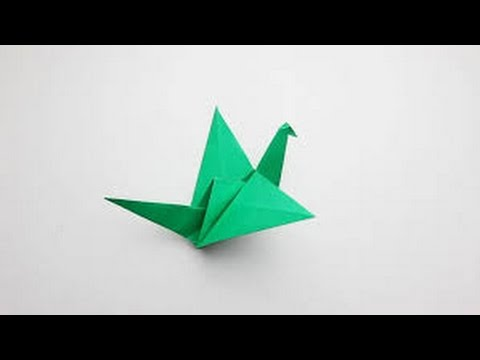 Origami How To Make Flaping Bird Youtube