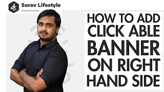 Lesson 18: How to Add Clickable Banner on Right Hand Side