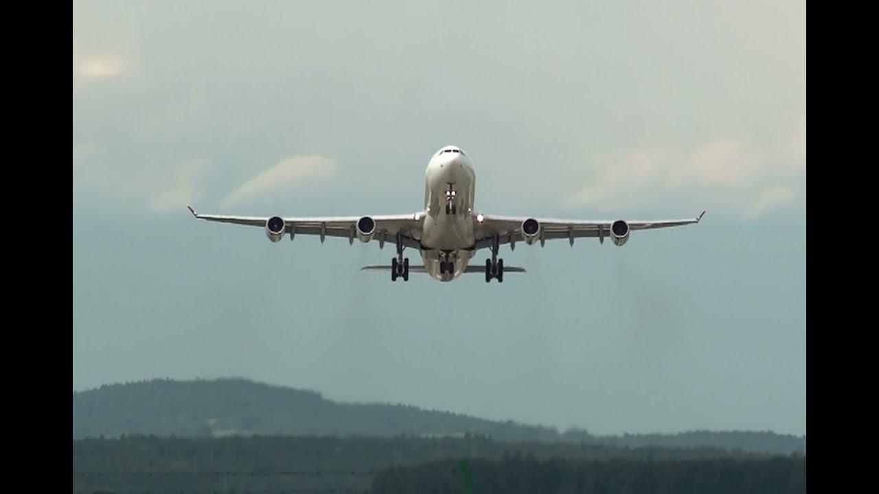 Flugzeuge im ZeitrafferAbflug Airport Zurich Kloten YouTube