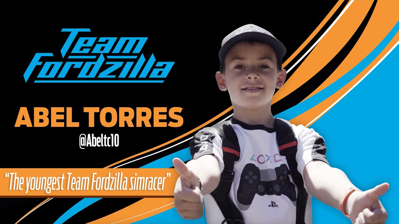 The youngest Team Fordzilla simracer