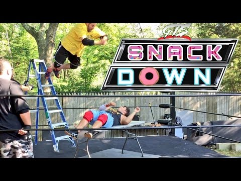 GRIMS INSANE TABLE DIVE! OFFICIAL EXTREME RULES TAG TEAM TITLE MATCH!
