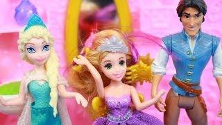 Flynn Rider Hair STLYIST Styles Rapunzels Hair Salon & Queen Elsa Disney Frozen Princess Tangled