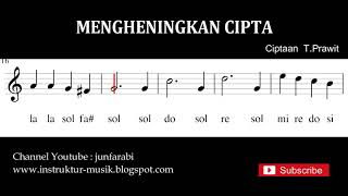 Mengheningkan Cipta not balok - do re mi - solmisasi - instrumental by junfarabi