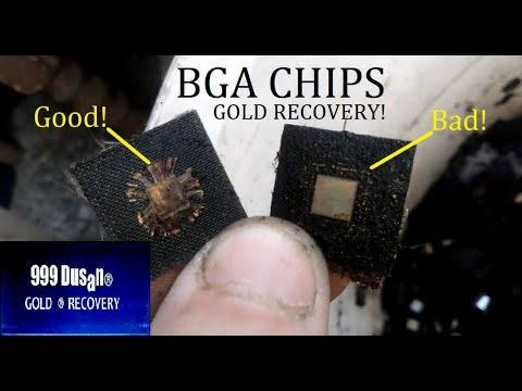 MIX BGA CHIPS GOLD RECOVERY - WET ASHING!