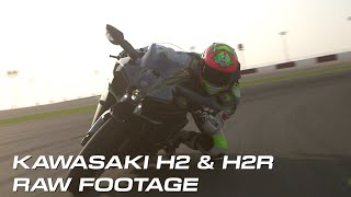 Kawasaki H2 & H2R | Raw Footage From The Archive (No music, no talking just action)