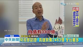20190729中天新聞 韓國瑜拚賺錢還債...卻傳頻遭中央卡韓