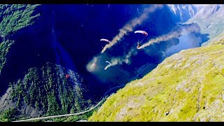 VLOG #18 Incredible XRW Wingsuit base jump and epic Heli base day
