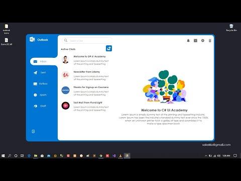 C# - Outlook Mailbox Concept [Guna Ui Framework Demo]