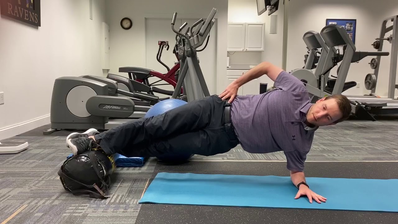 Side Plank Hip Lifts Feet Elevated - YouTube