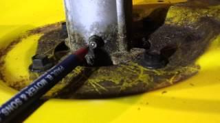How to Grease Mower Deck Bearings John Deere D110