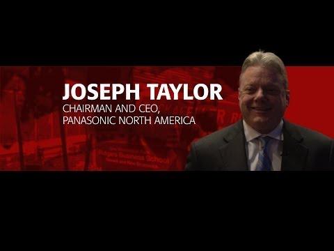 CEO Joe Taylor of Panasonic North America at Rutgers Business School