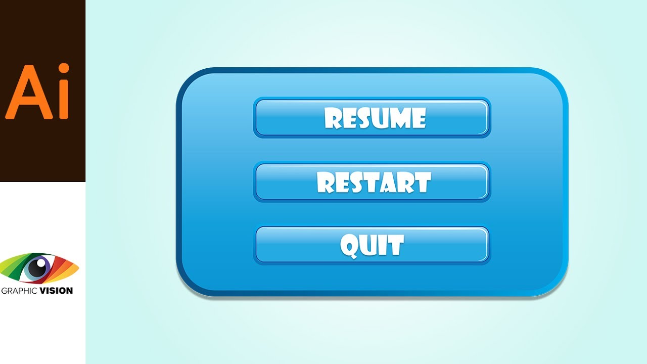 game ui how to create resume restart and quit buttons in adobe