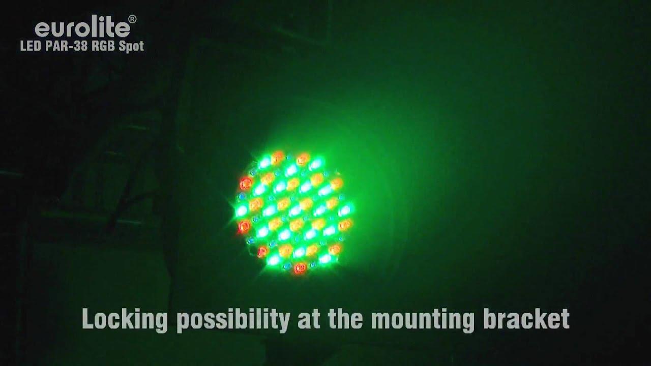 Eurolite Led Par 38 Rgb Spot Youtube Colorchanging Light Bulb Par38 02