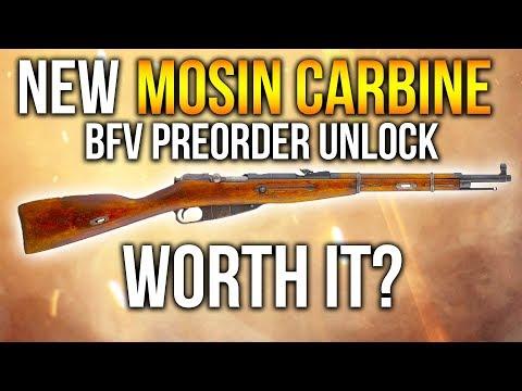 BF1 NEW MOSIN SNIPER BF5 Preorder Unlock - Worth It? Battlefield 1 Mosin Carbine Gameplay