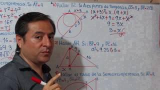 Relaciones Métricas en Triángulos Rectángulos y Circunferencias Ejercicios Parte 2.