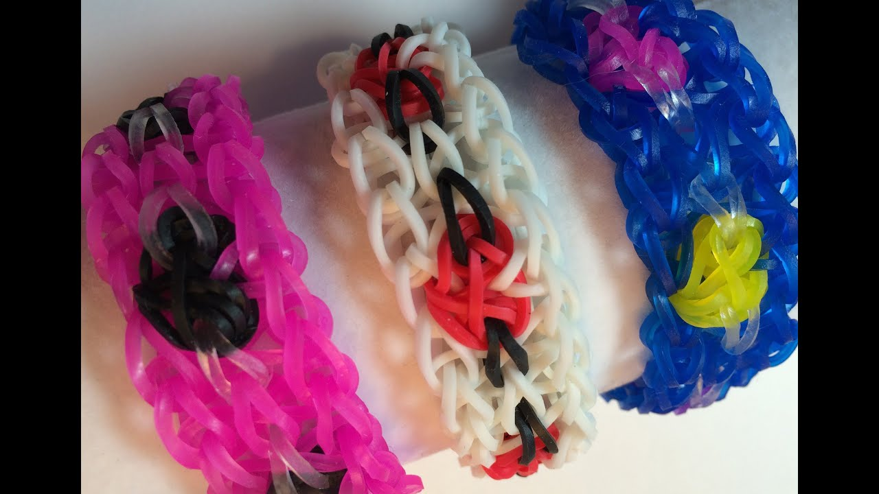 Rainbow Loom Band Valentine Heart Bracelet