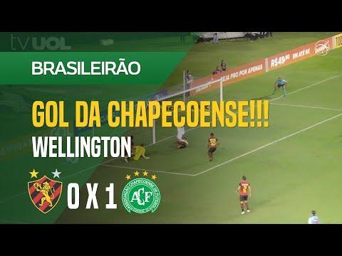 GOL (WELLINGTON) - SPORT 0 X 1 CHAPECOENSE - 05/08 - BRASILEIRÃO 2018