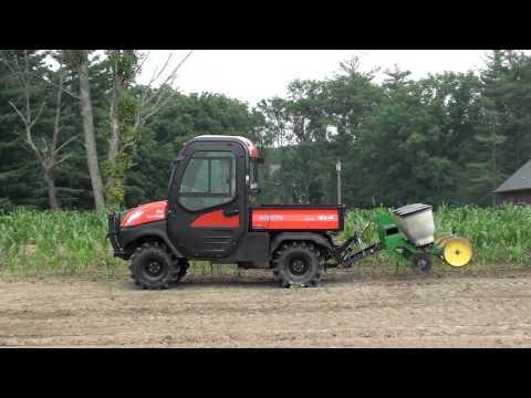 UTV Hitchworks - The Farmboy On The RTV 1100 Pulling A 600 Lb. 3 Row Planter