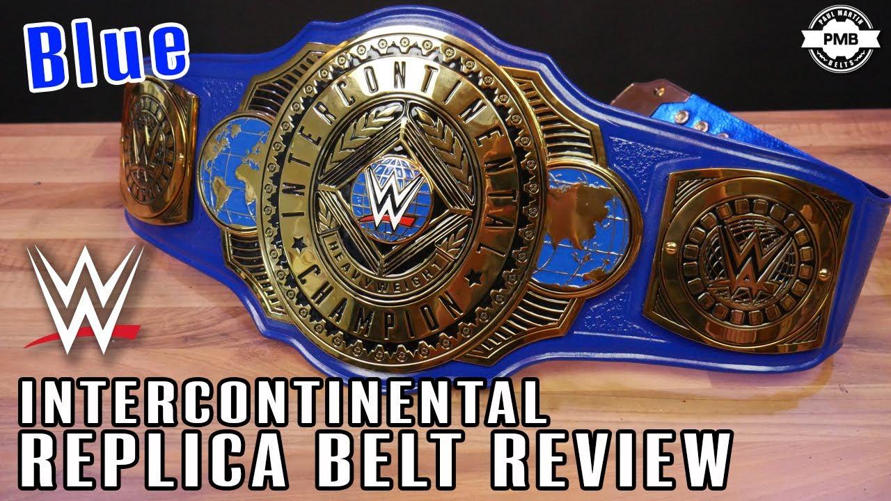 Custom Blue WWE Intercontinental Replica Belt