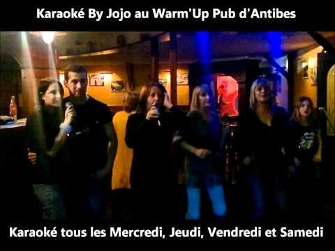 karaoké au Warm'up Antibes les demons de minuit.wmv